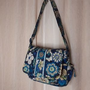 "Vera Bradley ""Mod Floral Blue "" Shoulder Bag"